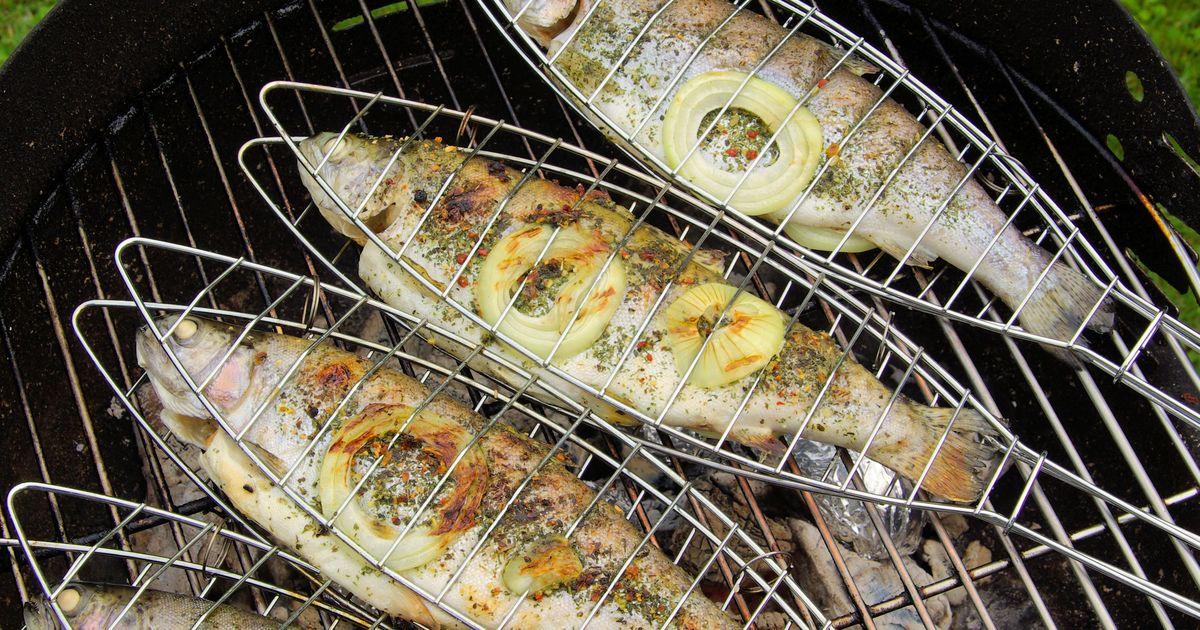 Фото Форель на гриле – рецепт для пикника!