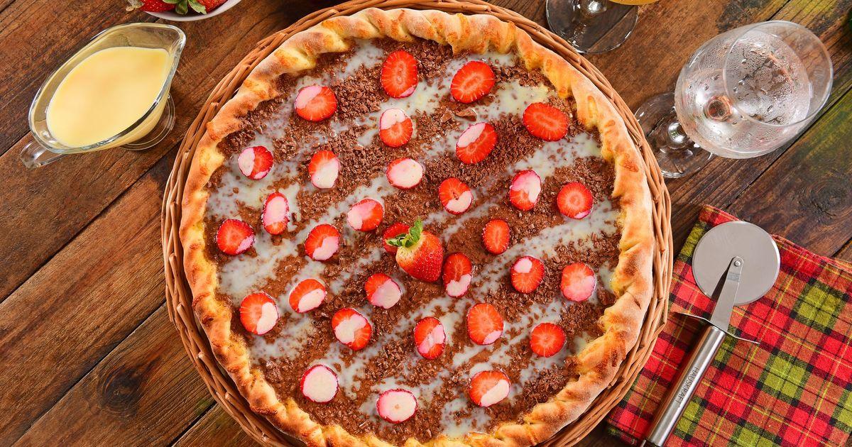 Фото Клубничная пицца