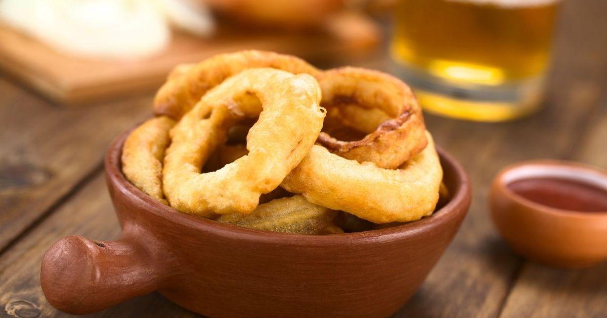 Фото Аппетитные луковые кольца в пивном кляре