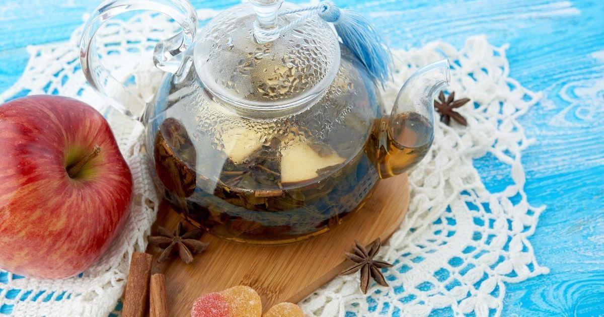 Фото Ароматный яблочный чай
