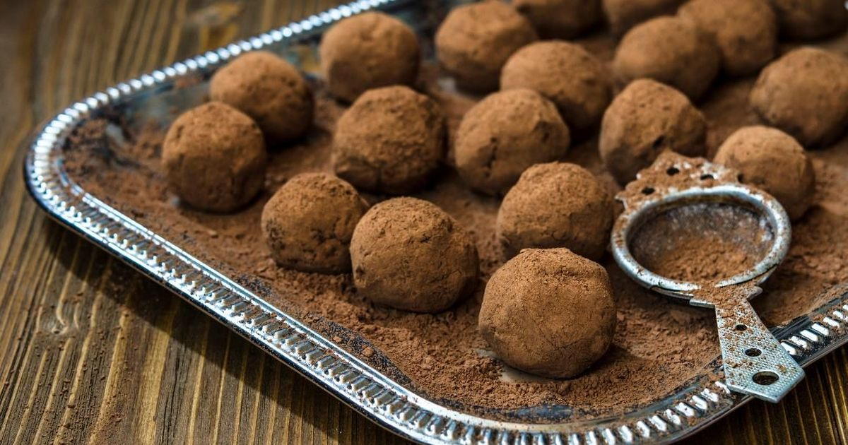Фото Домашние конфеты из какао и сухого молока