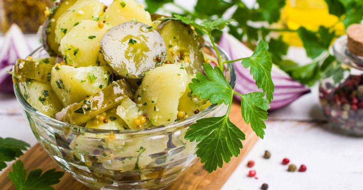 Фото Австрийский картофельный салат