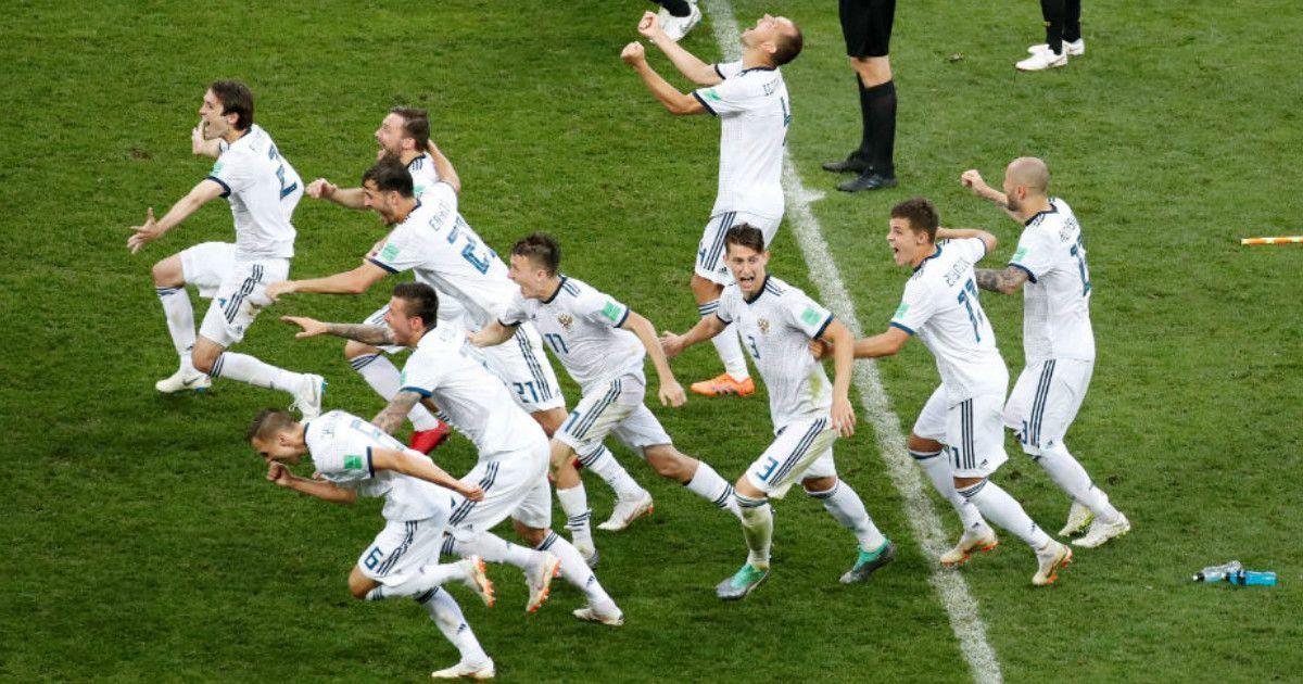Фото Чудо в Москве. Россия отправила домой Испанию и вышла в 1/4 финала ЧМ