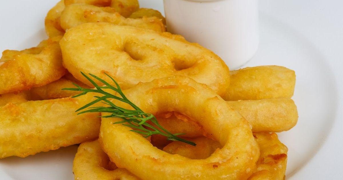 Фото Аппетитные кольца кальмара в кляре