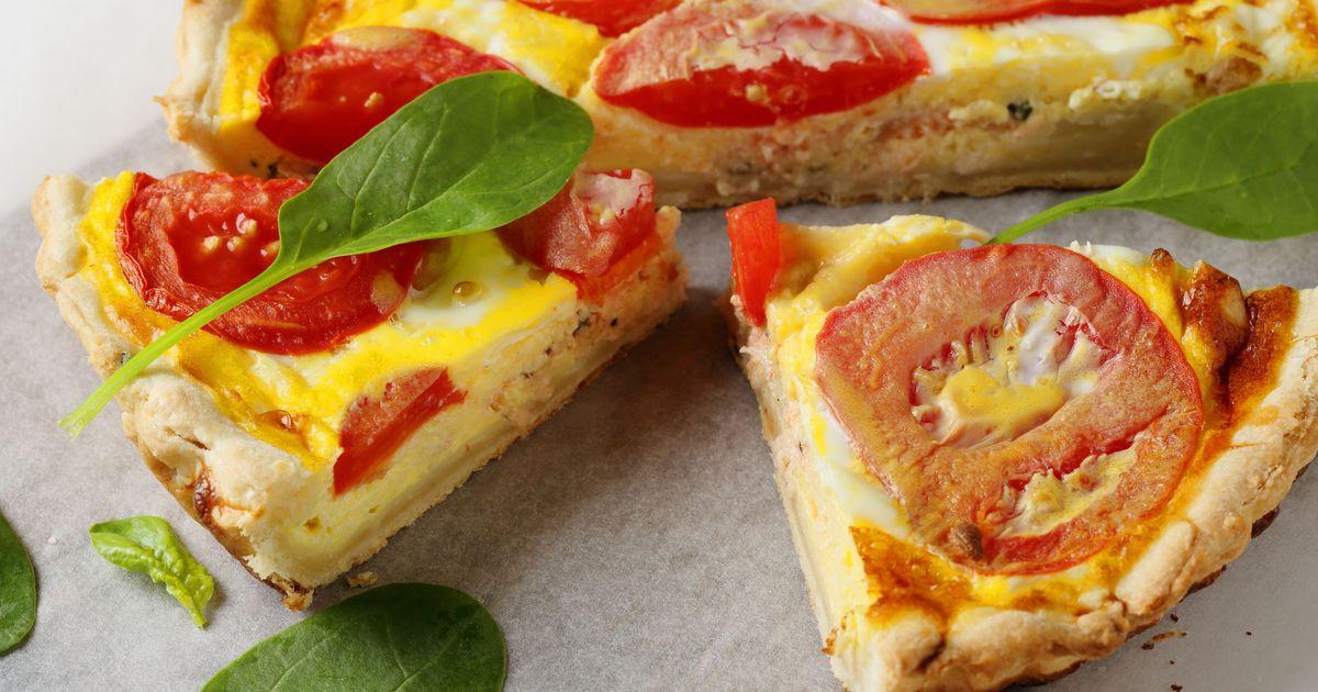 Фото Киш с сыром и помидорами
