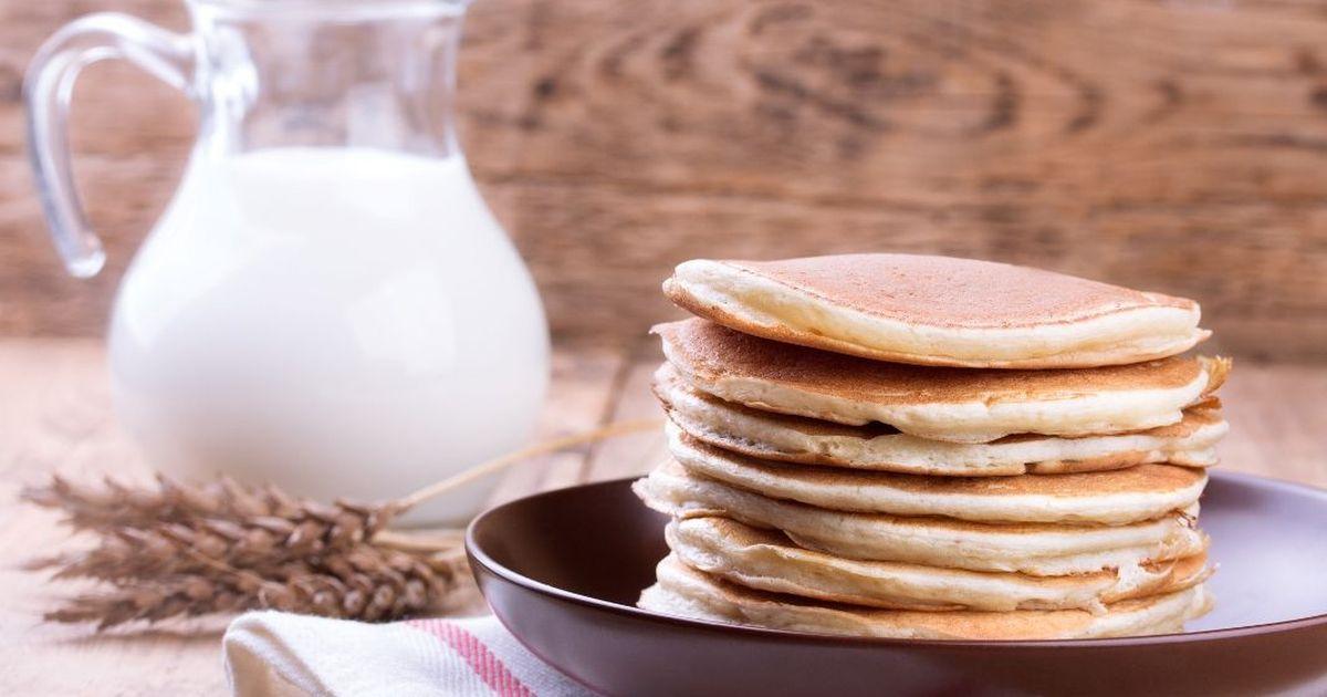Фото Аппетитные панкейки на молоке