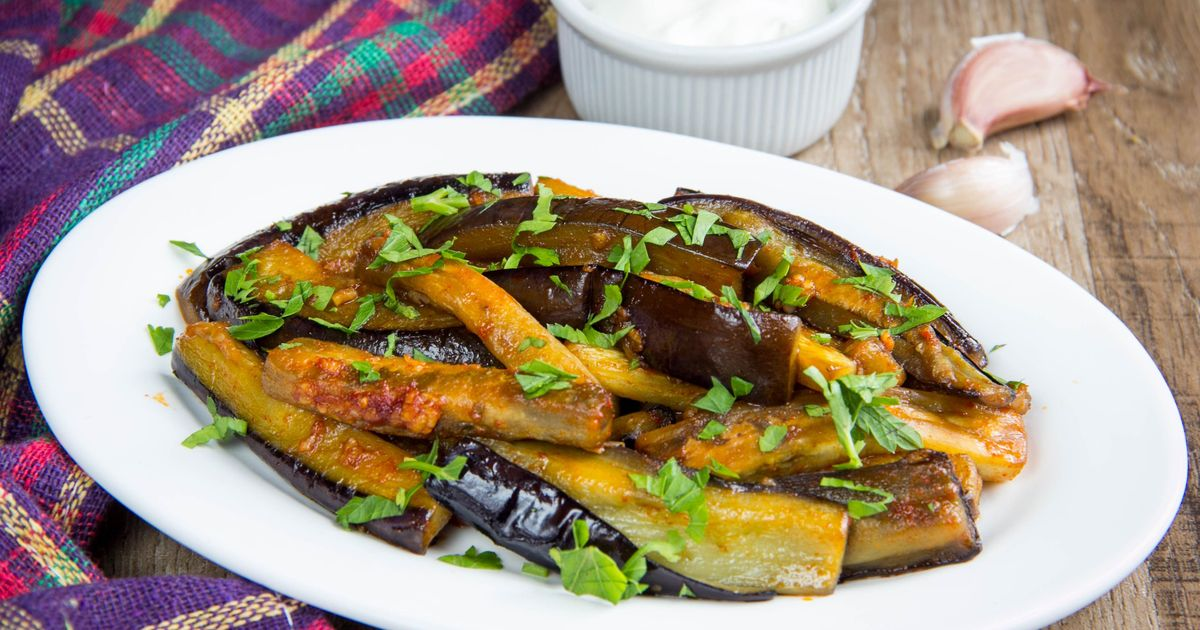 Фото Баклажаны с чесноком и соевым соусом