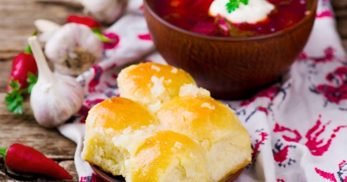 Фото Аппетитные пампушки к борщу за 20 минут