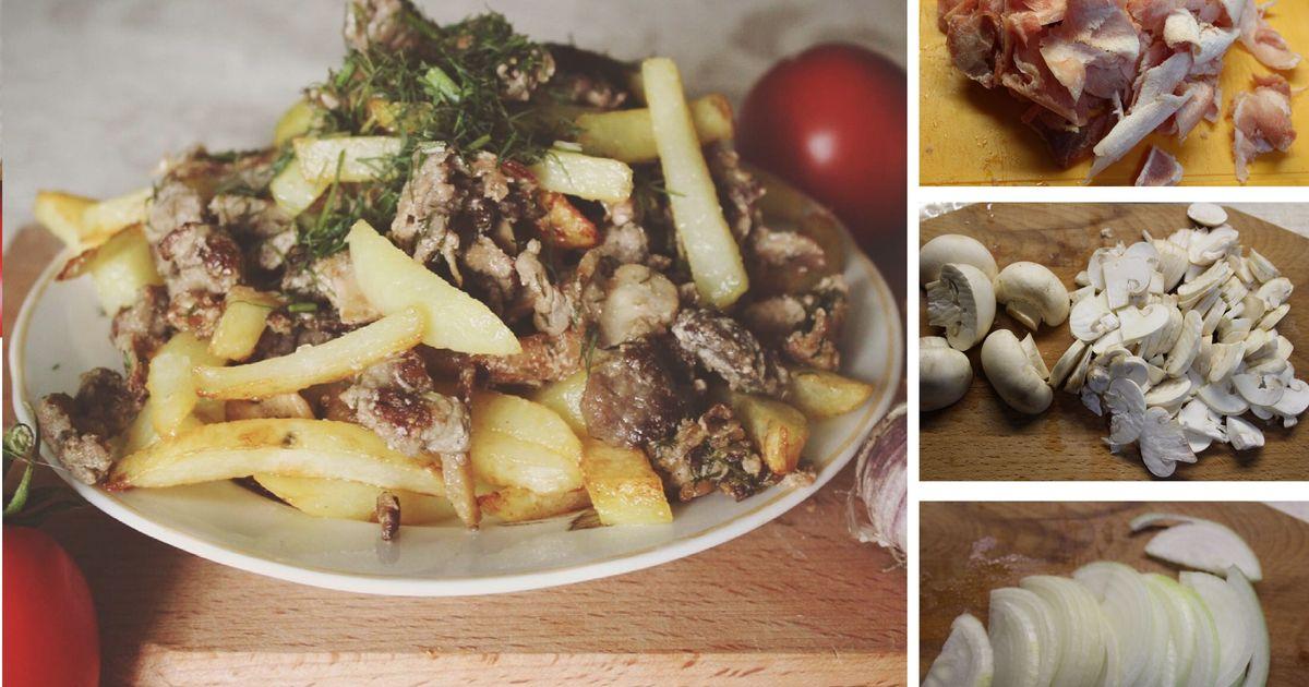 Фото Скоблянка мясная с грибами по-русски: пошаговый фото рецепт