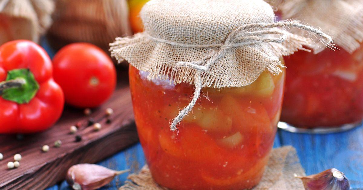 Фото Лечо из помидоров и перцев на зиму