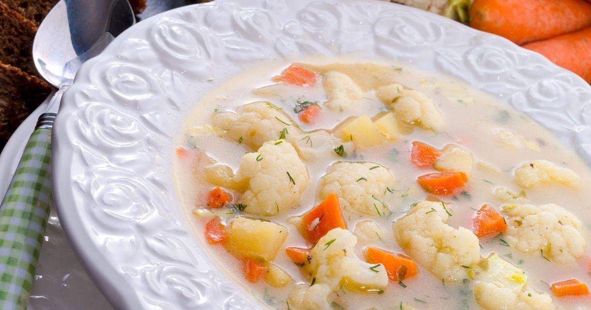 Фото Сливочный суп с цветной капустой