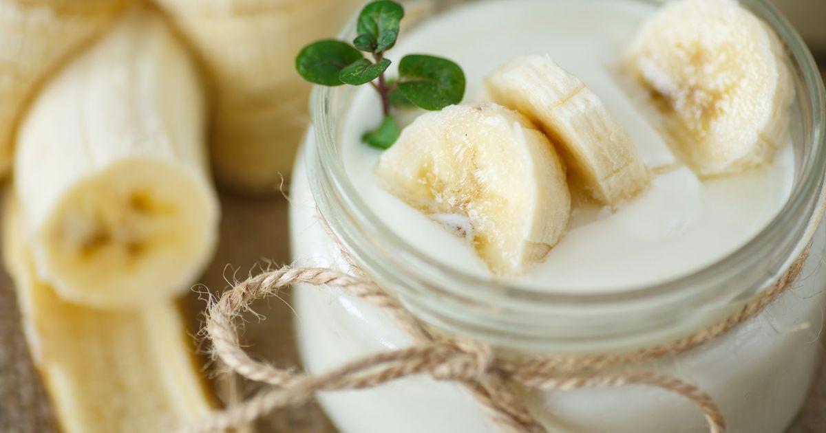 Фото Нежный банановый йогурт