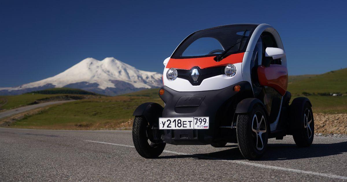 Фото Электромобиль Renault Twizy попал в Книгу рекордов России