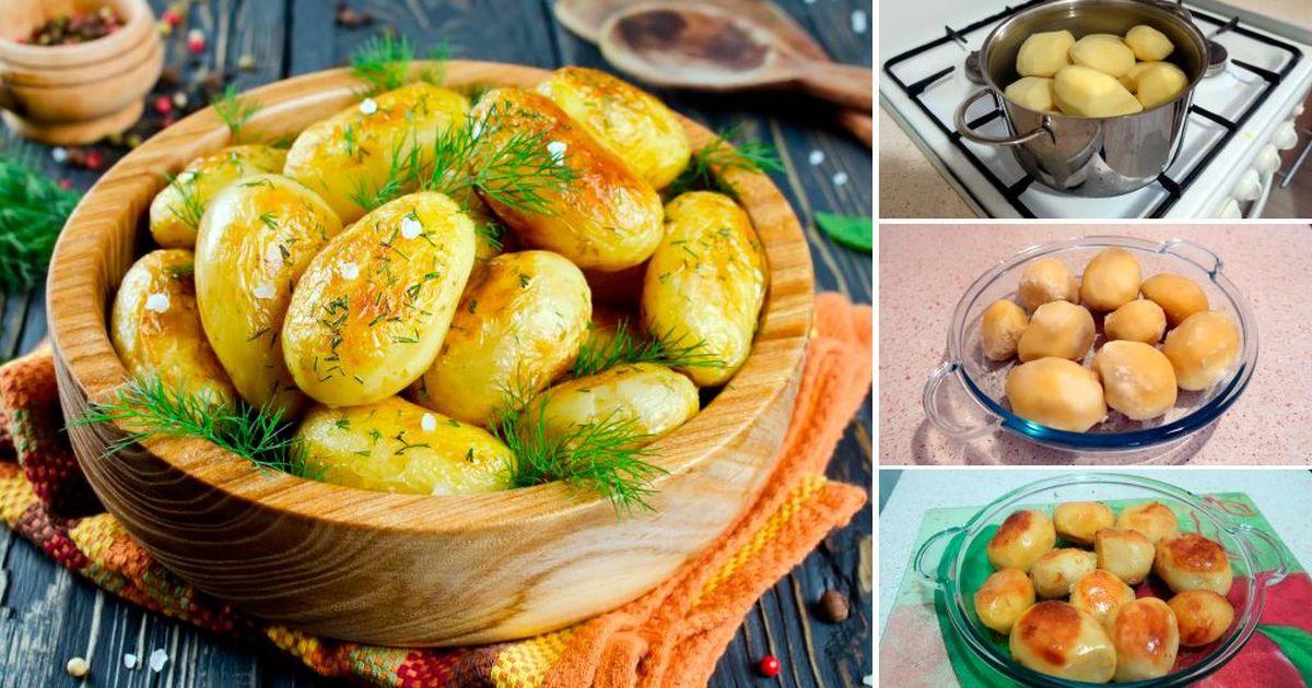 Фото Запеченный картофель (секретная техника): пошаговый фото рецепт
