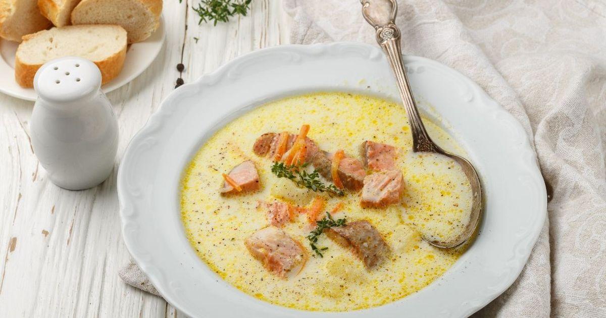 Фото Сливочный рыбный суп