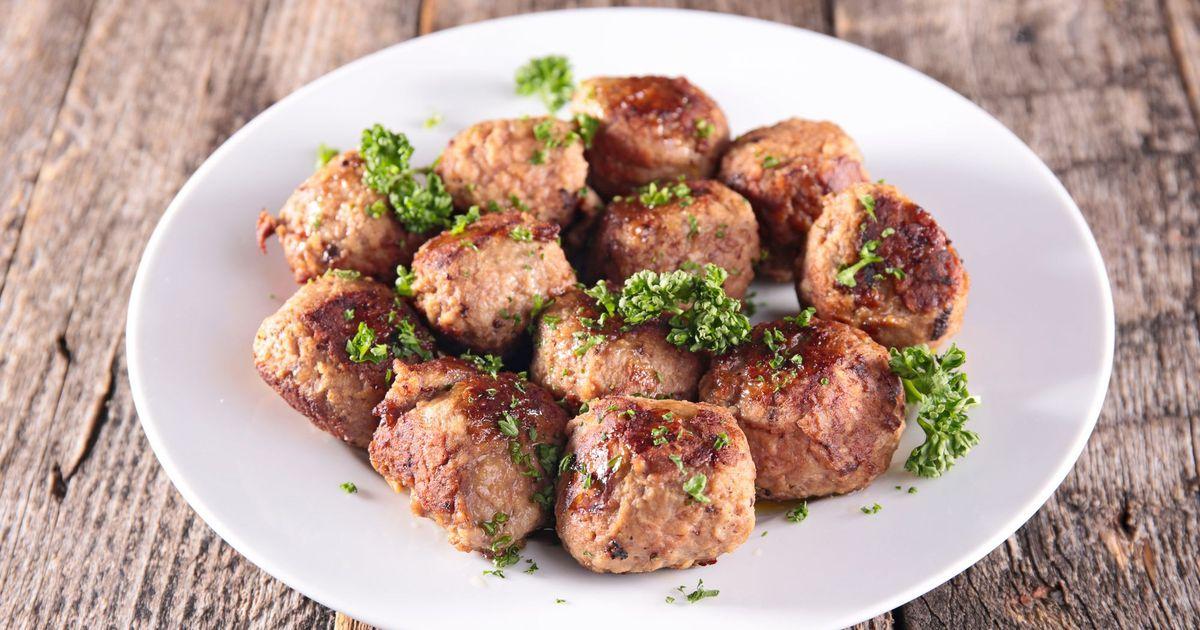 Фото Фрикадельки из говядины обжаренные на сковороде
