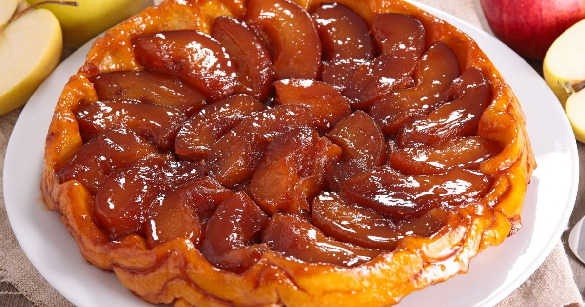 Фото Классический яблочный тарт-татен