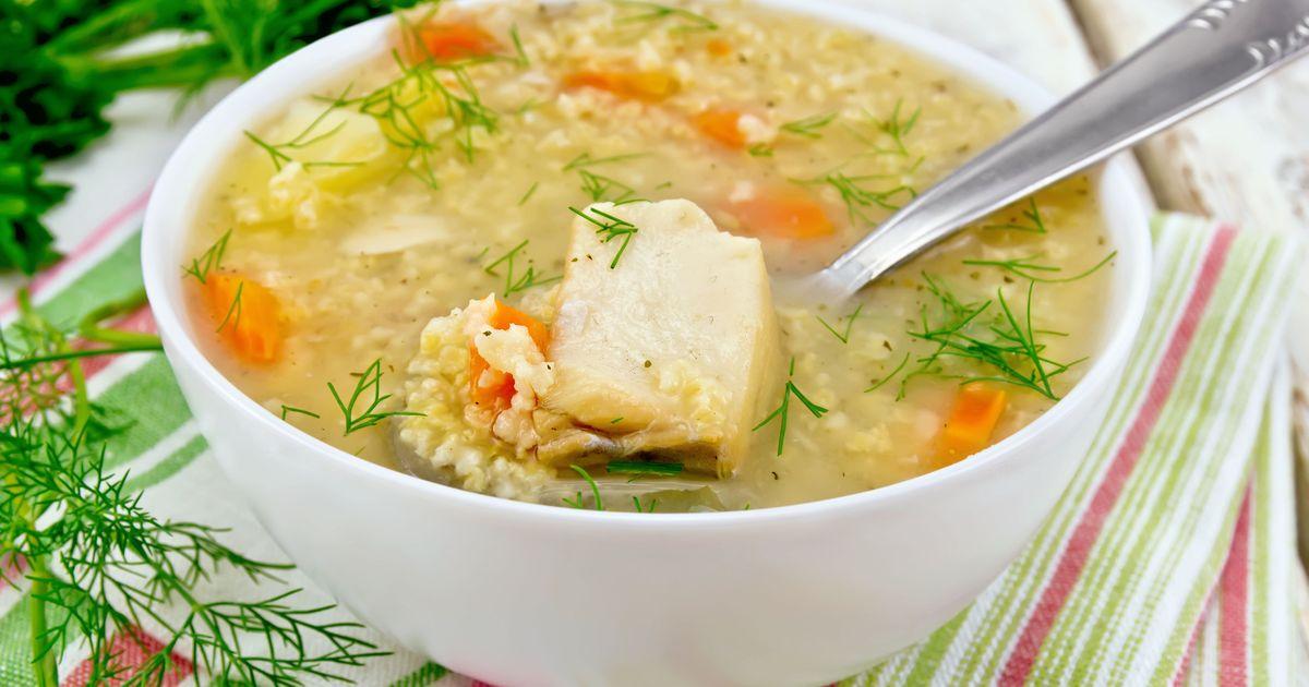 Фото Суп с рыбными консервами и пшеном за 30 минут