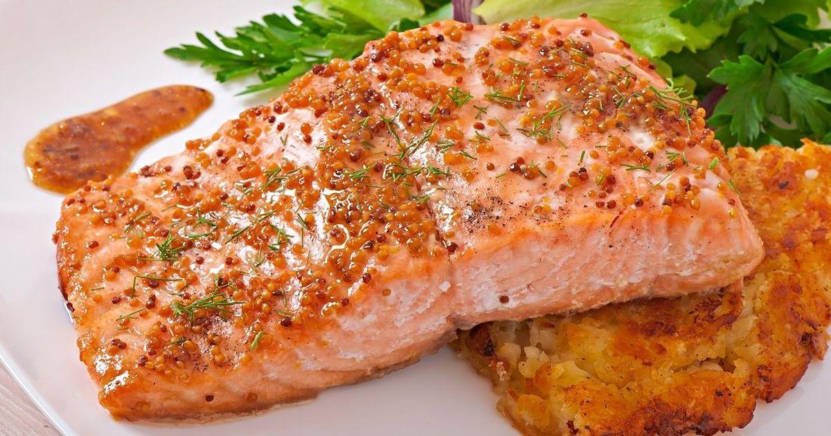 Фото Изумительно вкусный лосось в медово-горчичном соусе