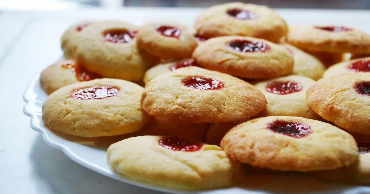 Фото Песочное печенье с джемом