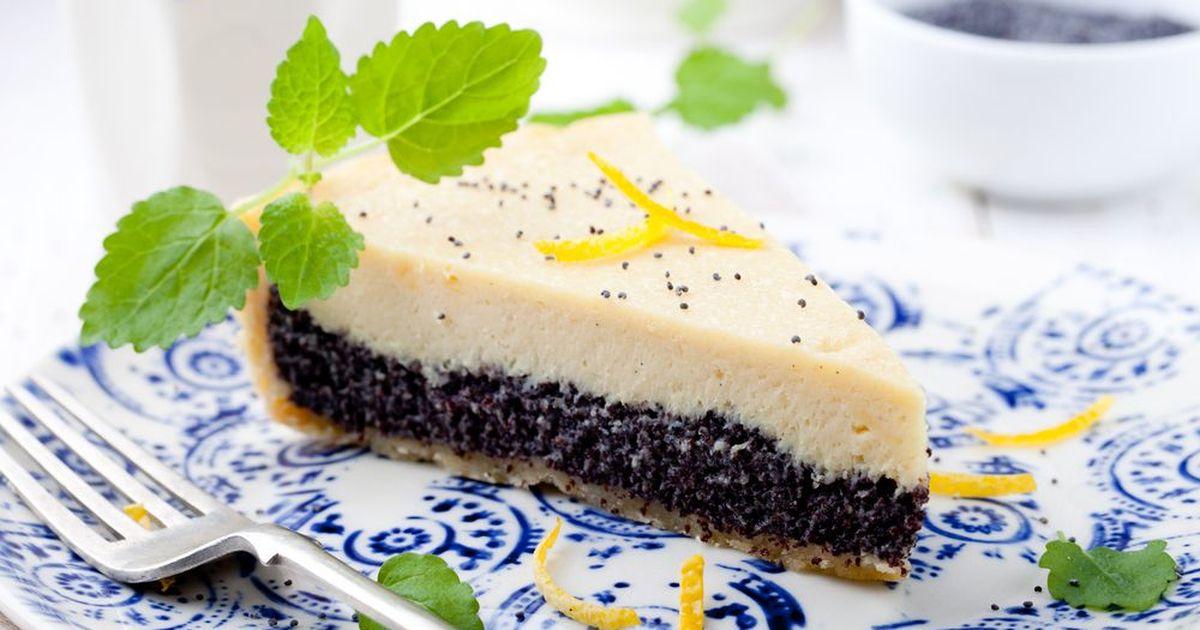 Фото Песочный пирог с маком и творогом
