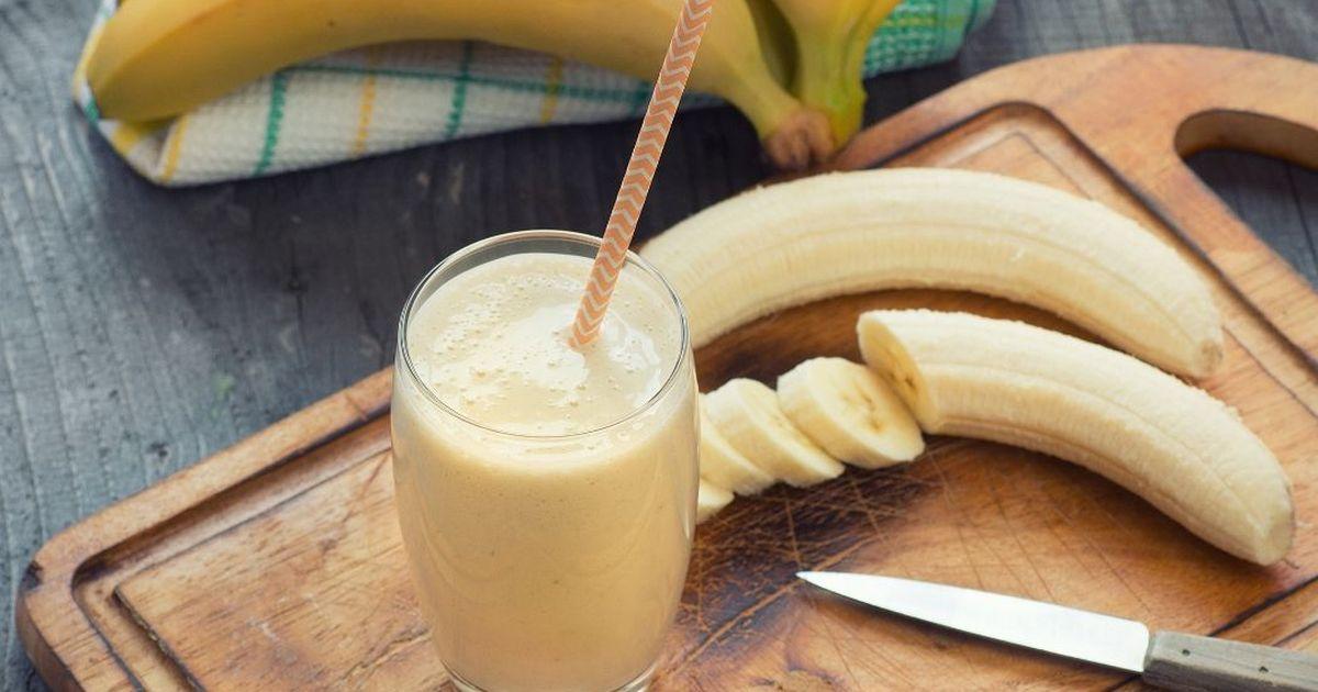 Фото Молочный коктейль с бананом