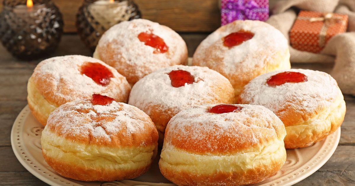 Фото Еврейские пончики на Хануку