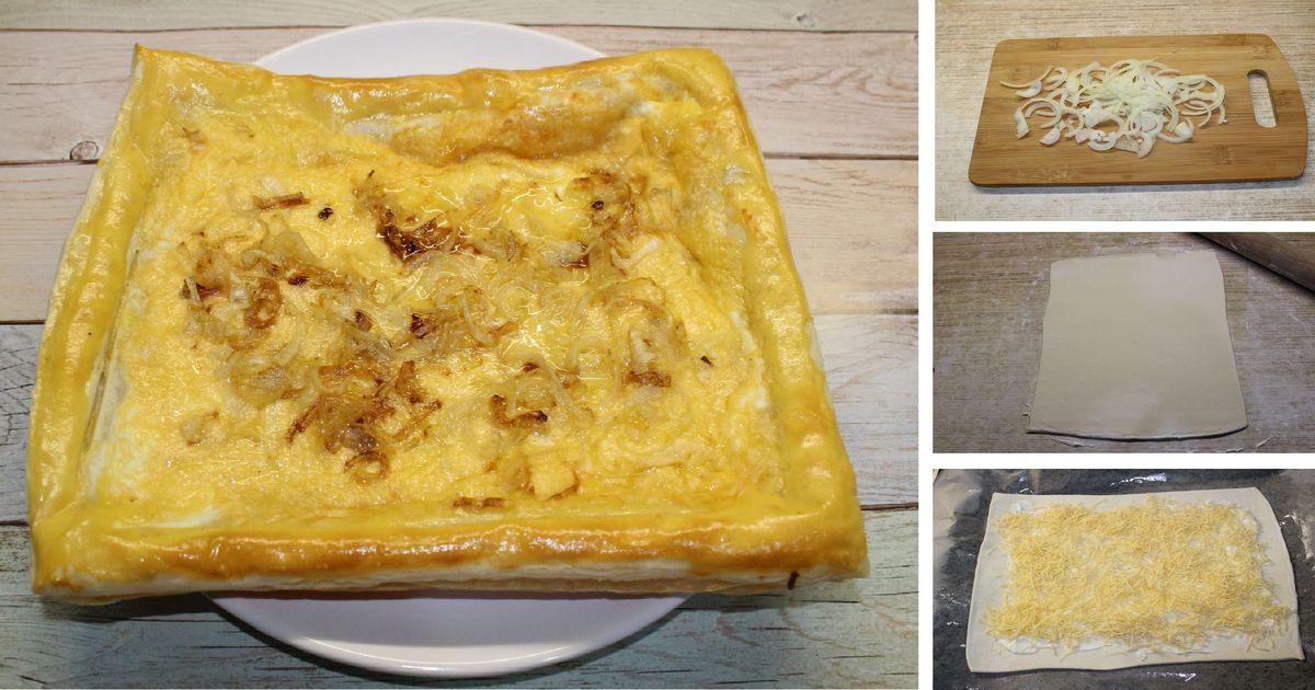 Фото Сырный пирог с луком: пошаговый фото рецепт