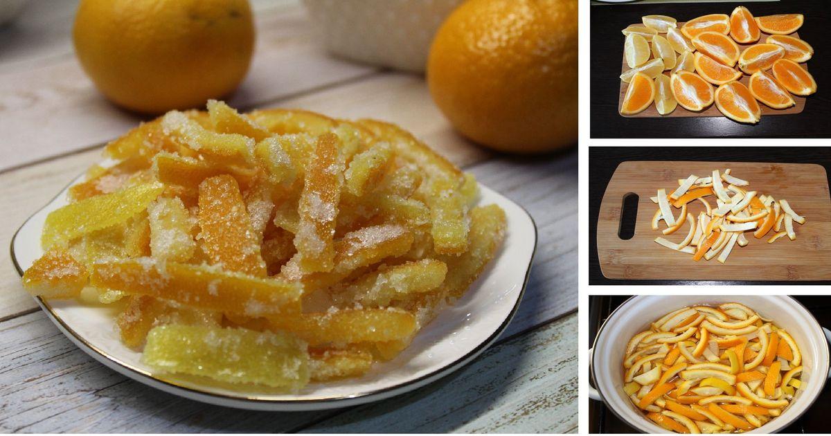 Фото Домашние цукаты из лимонов и апельсинов: пошаговый фото рецепт