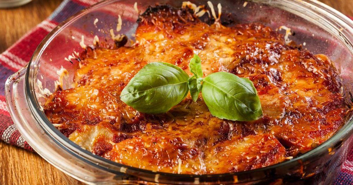 Фото Запеченый картофель с мясом под сыром