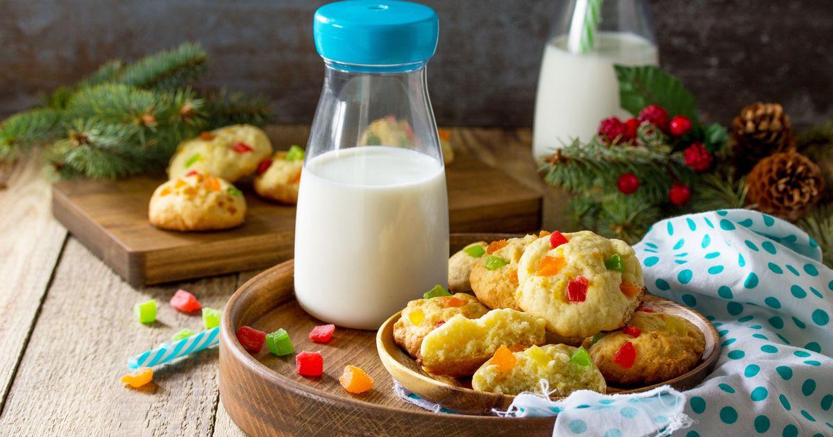 Фото Рождественское творожное печенье с цукатами