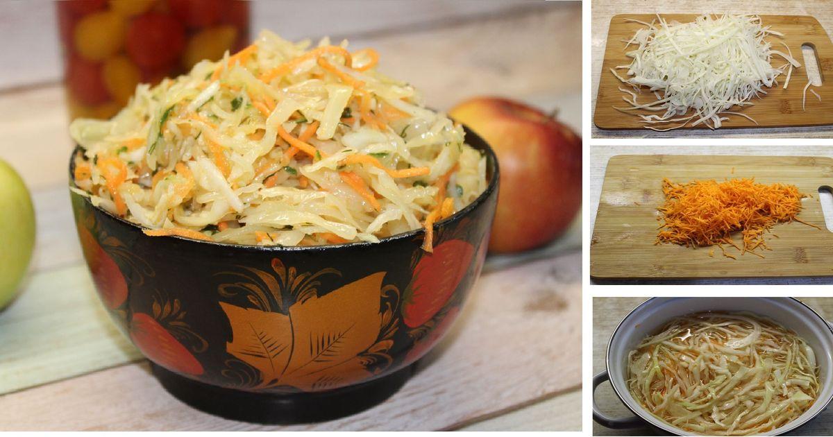 Фото Домашняя квашеная капуста по дедушкиному рецепту: пошаговые фото
