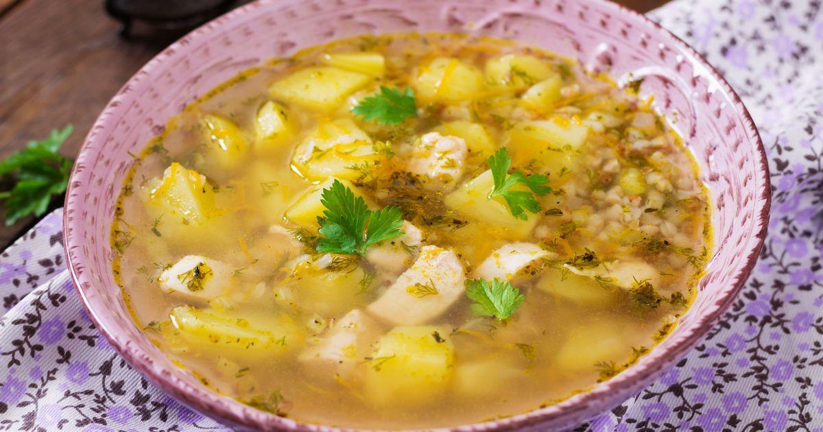 Фото Гречневый суп с курицей