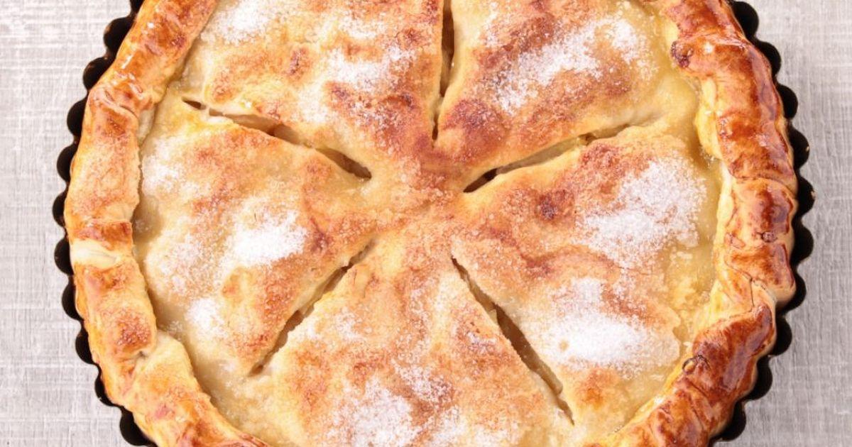 Фото Вкуснейший закрытый пирог с яблочной начинкой