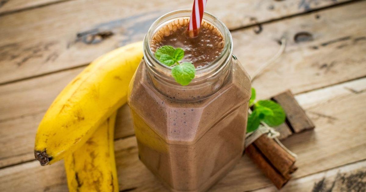 Фото Шоколадный смузи с бананом