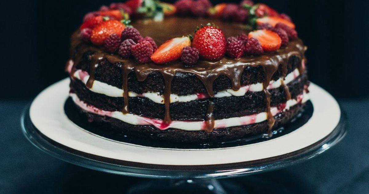 Фото Шоколадный торт на кефире