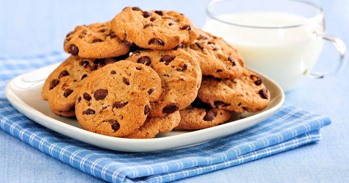 Фото Вкуснейшее печенье с шоколадной крошкой