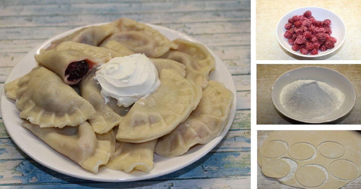 Фото Домашние вареники с вишней и с черникой: пошаговый фото рецепт
