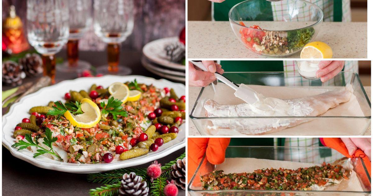 Фото Треска под праздничным конфетти: рецепт на Новый год
