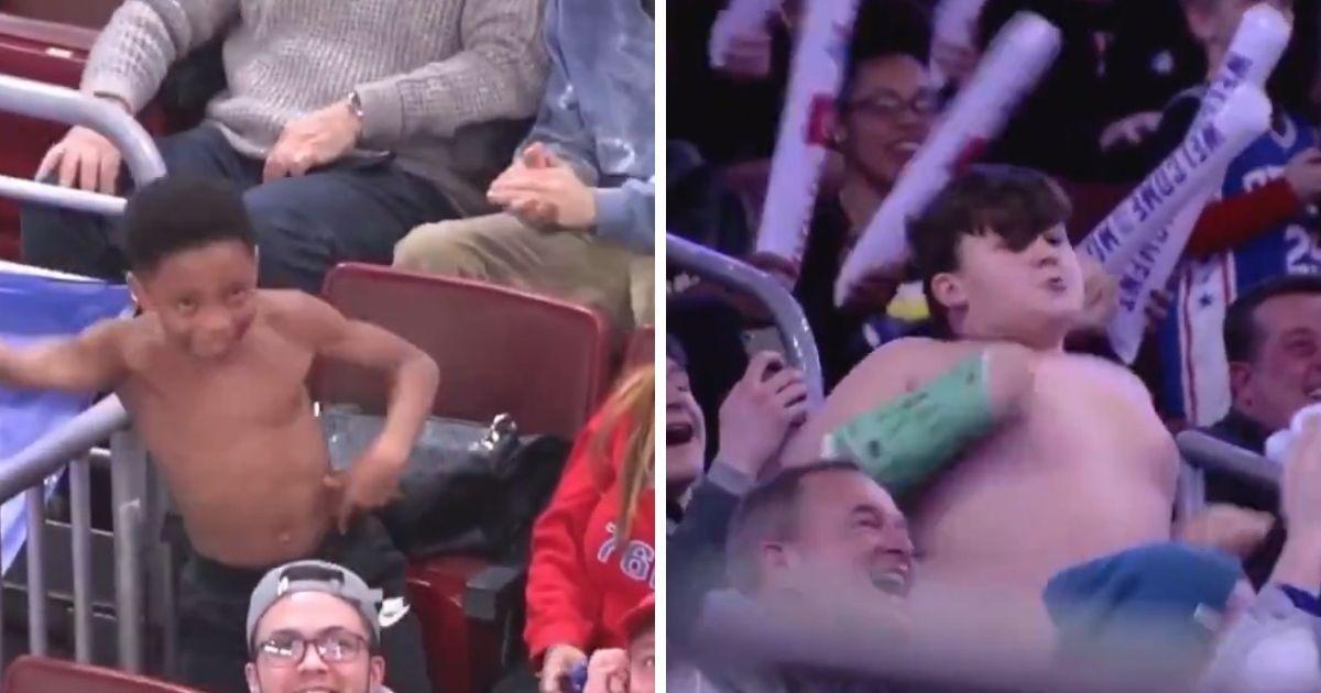 Фото Супер-баттл без футболок: как два мальчика взорвали стадион