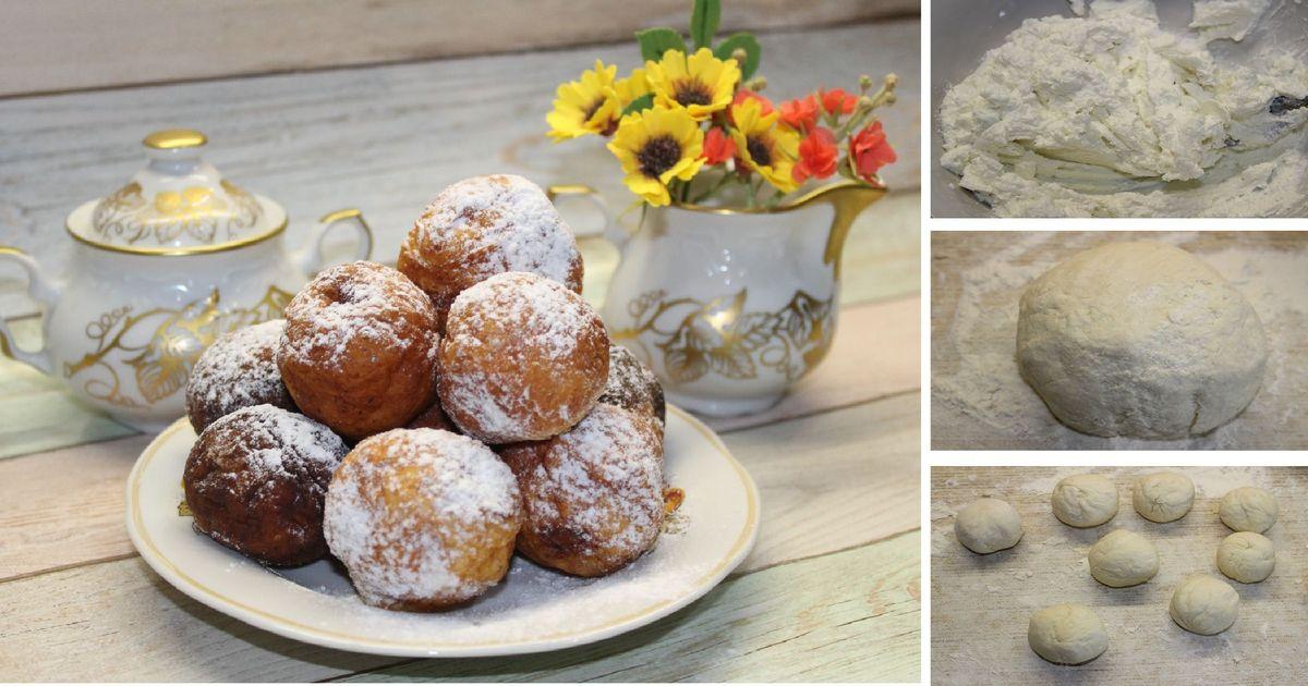 Фото Творожные пончики: пошаговый фото рецепт