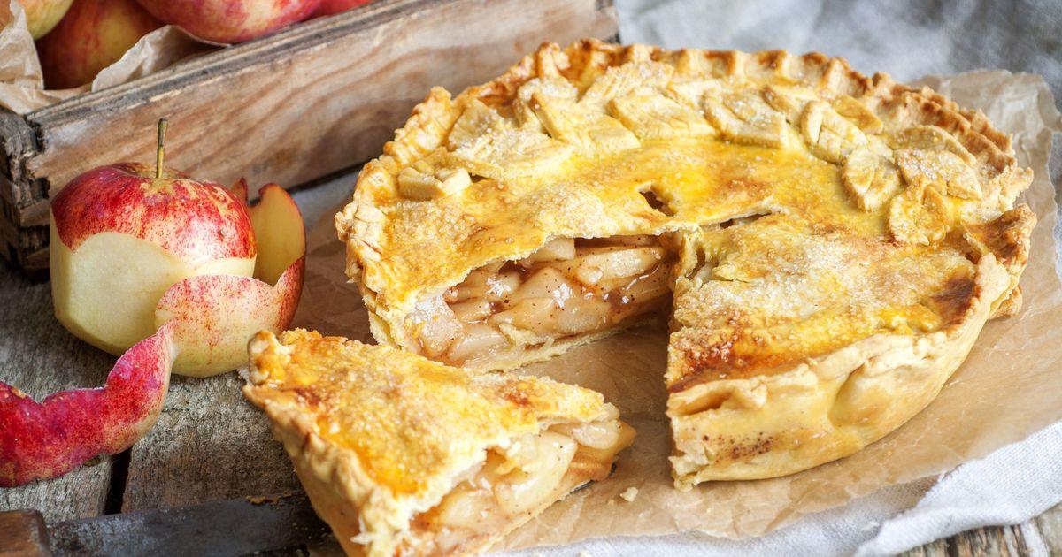 Фото Песочный пирог с яблоками