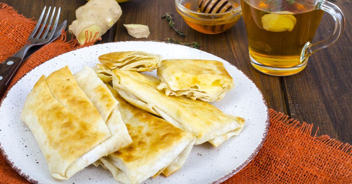 Фото Жареный лаваш с сыром