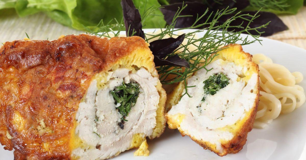 Фото Куриные рулетики с сыром и зеленью