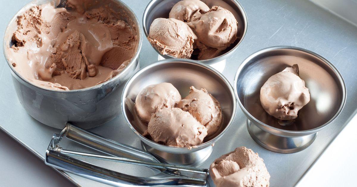Фото Сливочное мороженое с нутеллой