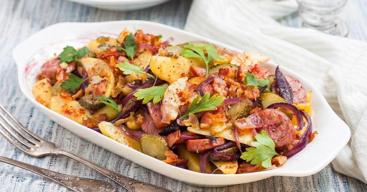 Фото Немецкий картофельный салат