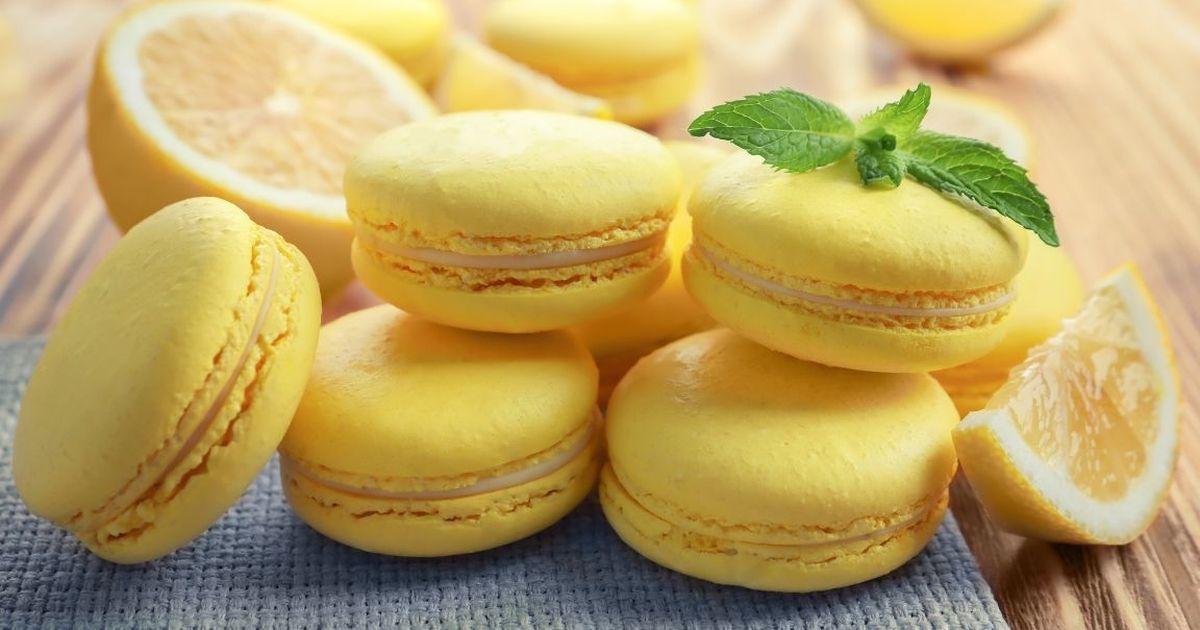 Фото Лимонные макаруны