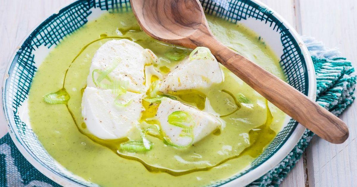 Фото Суп из кабачков с моцареллой