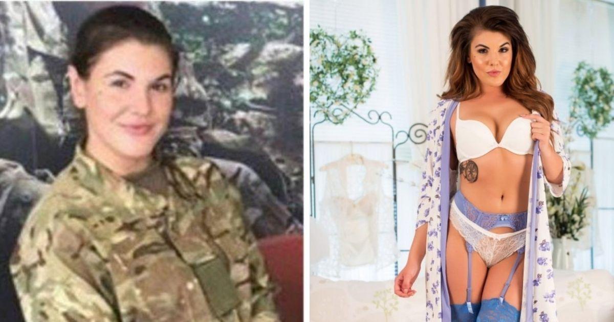 Фото Из порно в солдаты: девушка из британской армии снималась в кино для взрослых