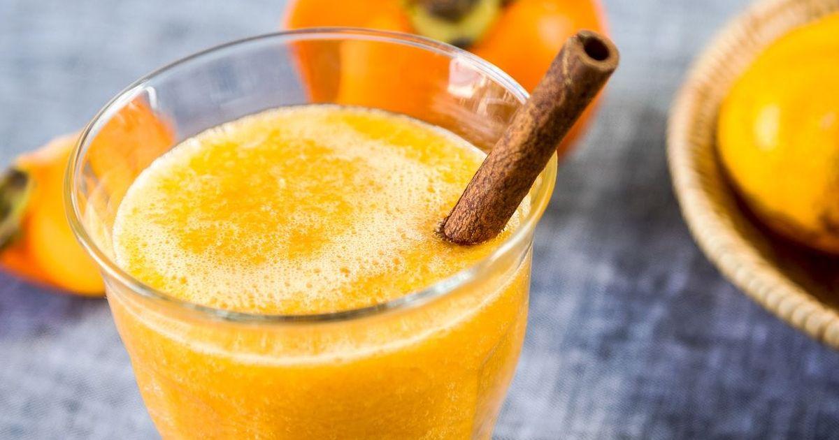 Фото Рецепт приготовления смузи из апельсина и хурмы